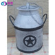 Wholesale Hand Forged iron crafts Garden decor outdoor Metal Bucket Pot Cover Planter flower Plant pot