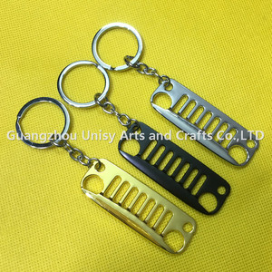 car logo Grill Keychain 3D Key Chains Ring Car Accessories for Wrangler Automotive Enthusiasts