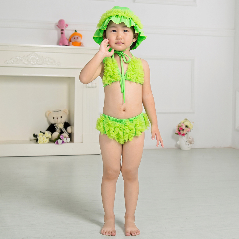 8f0e638f5a Hot sale summer kids weekly bikini children swimwear little girl swimsuit  bathing suit