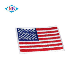 Iron-on custom American flag embroidery patch on selling