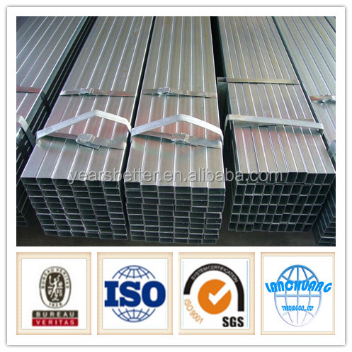 Trade Assurance gi square pipe ms square tube price list With SGS Test