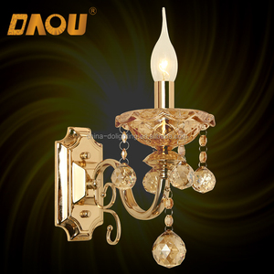 Hot Crystal wall mounted chandelier Wall Lamp with Candle shape Light