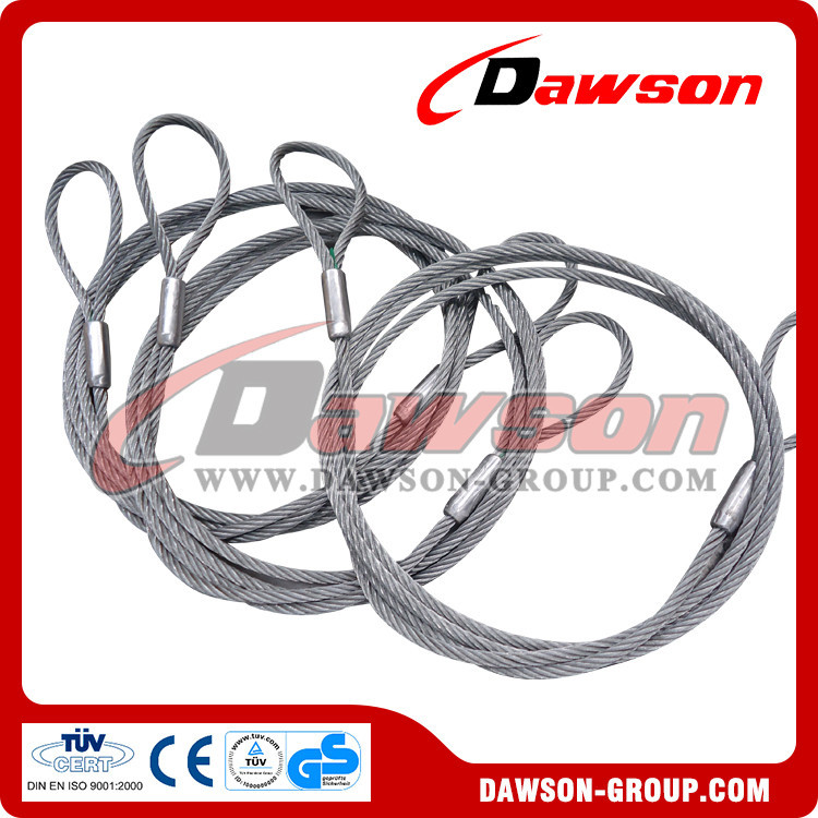 Flemish Eye Wire Rope Lifting Sling With S505 Swaged Steel Ferrule ...