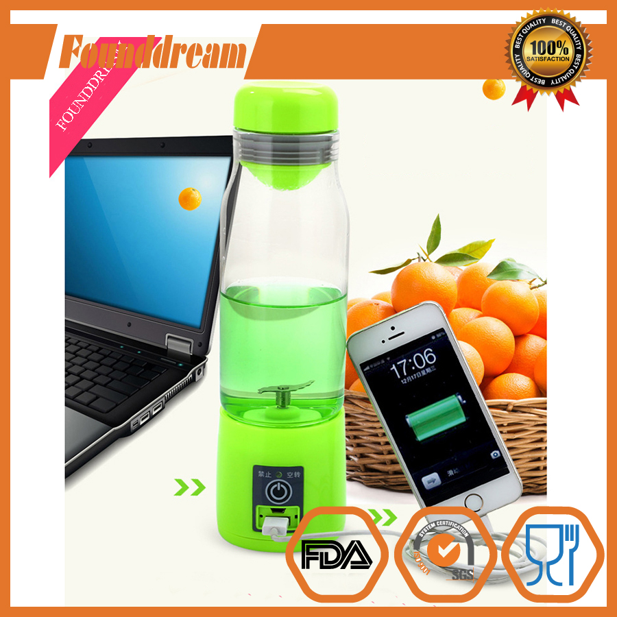 Portable Blender USB Juicer Cup, Multifunction Mini Juice Blender Smoothie Maker Blender with Drink Bottle