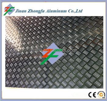 1060 H24 5 Bar Willow Shaped Embossed Aluminium Tread Sheet