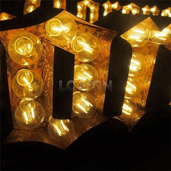 Giant Illuminated Love Letters Led Marquee Bulb Letter Light Up For Wedding Decoration