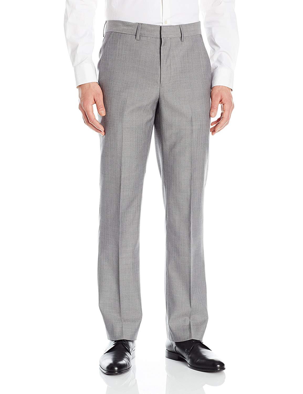 Nautica Men's Wool Rich Silver Herringbone Suit Separate Pant