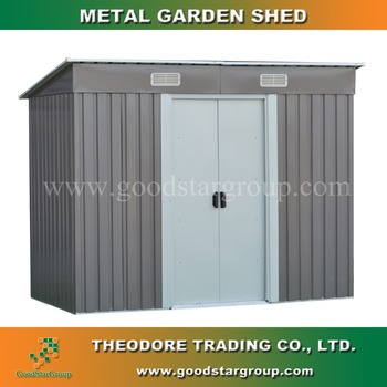 Metal Storage Shed Pent Roof 4'x8' Ft Made Of Zinc Steel Frame For Outdoor  Tools Equipment Storage Shed Kits Portable Building - Buy Garden Shed,Metal