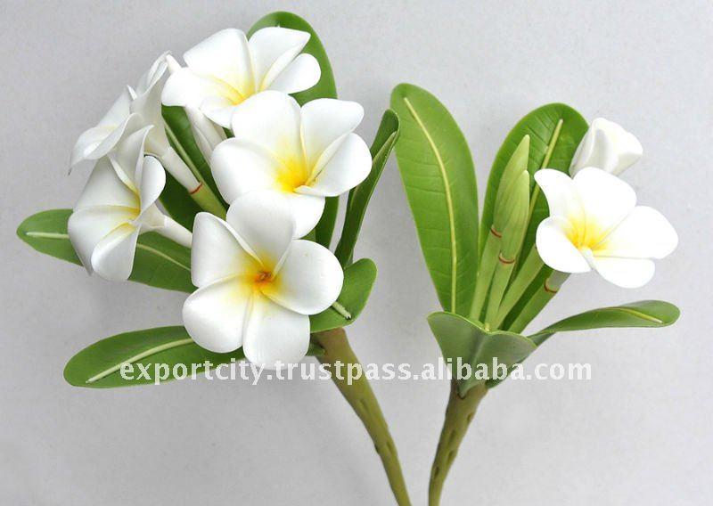 Artificial Clay Flowers Plumeria Frangipani Hawaiian Flowers
