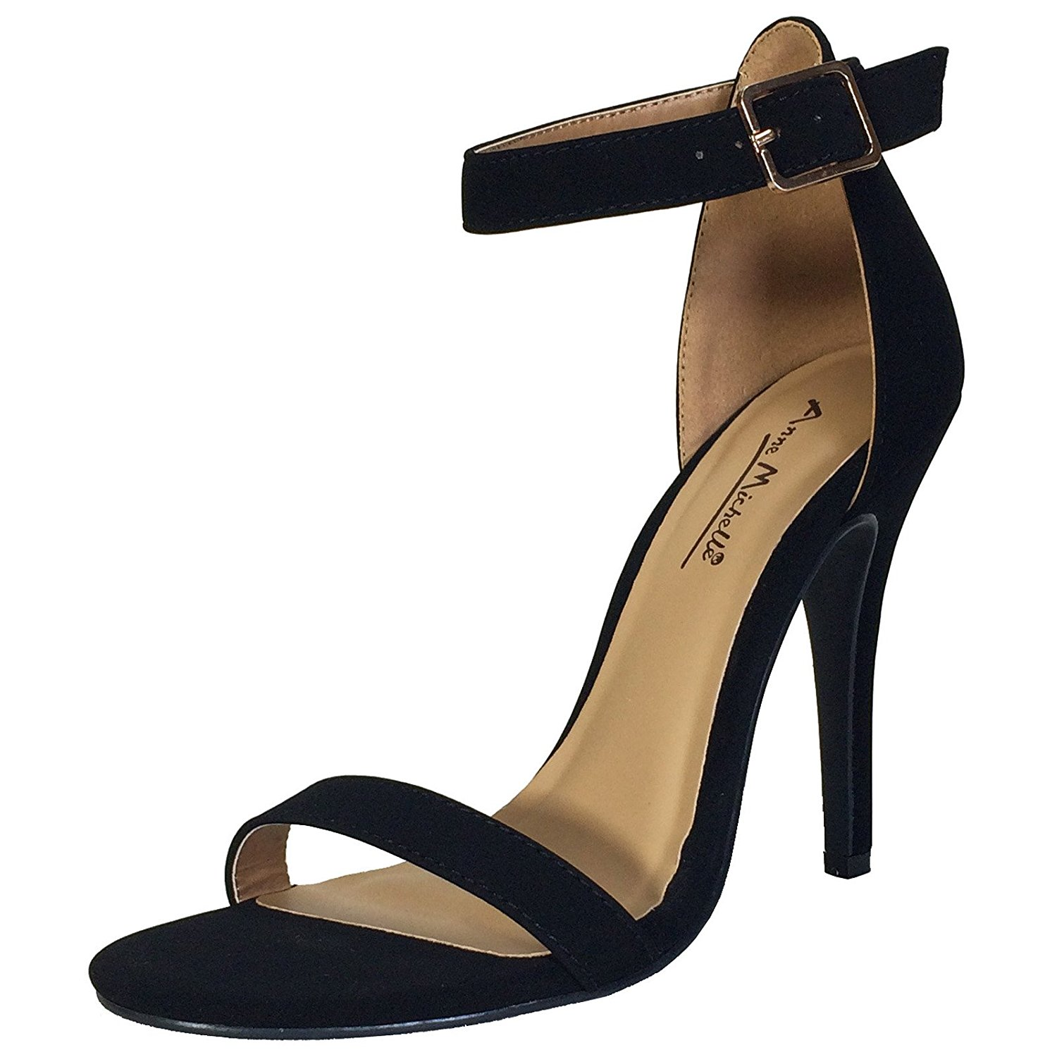 c3e6b409b Get Quotations · Anne Michelle Women's Single Band Dress Heel Sandal with Ankle  Strap