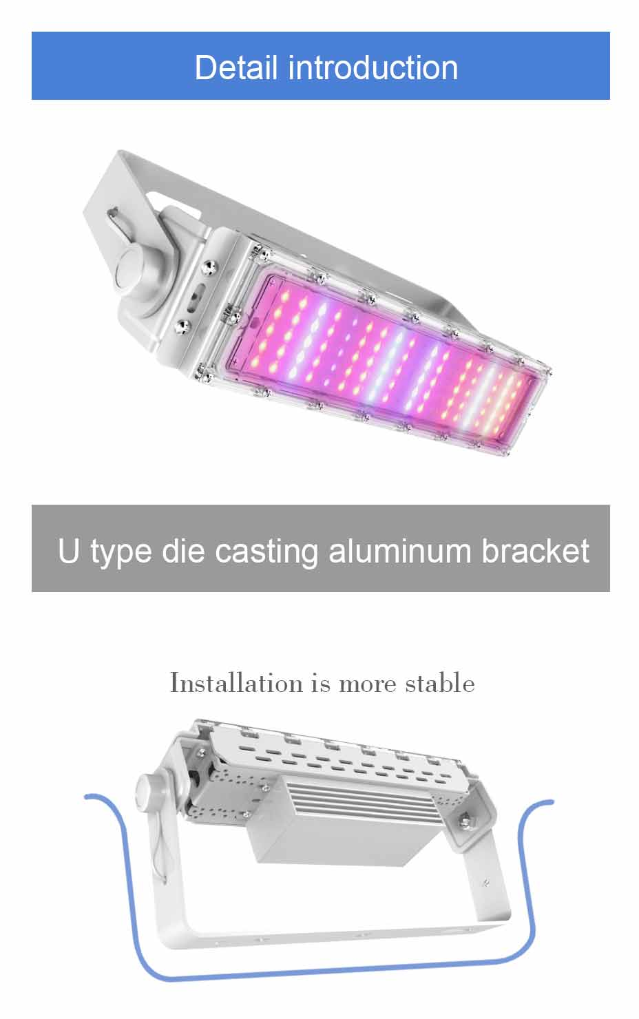 LIWEIDA brand 630nm 460nm 60w tunnel high bay led plant lamps for vegetables and fruits