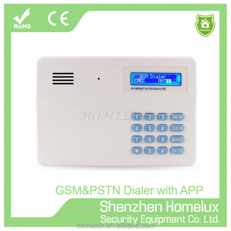 GSM auto dialer for Wireless Home Security GSM Alarm System with LCD Keypad