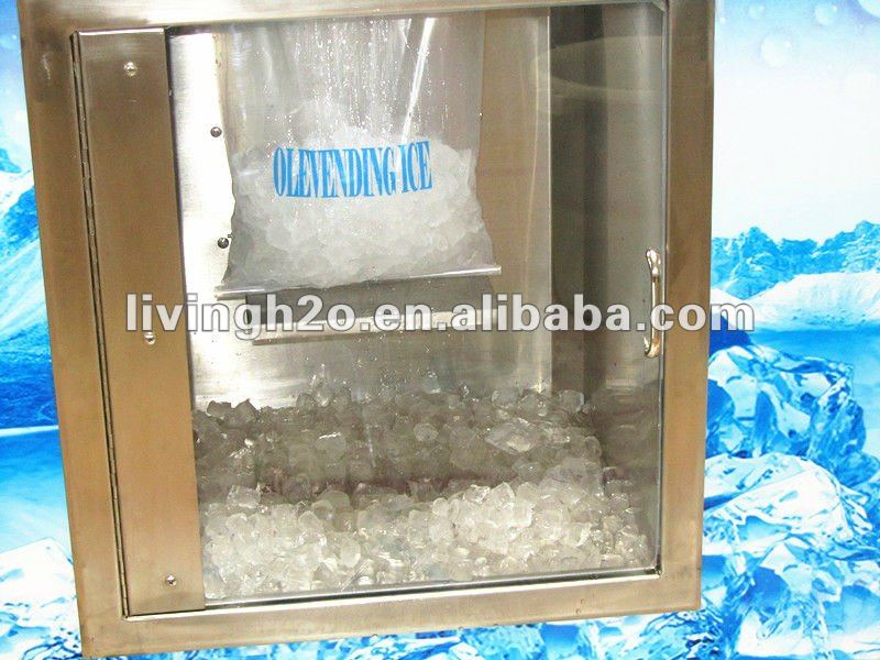 Outdoor Self-service coin note operated ice and  water vending machine