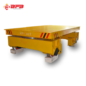 China manufacturer self propelled steel towed electric motorized transfer bogie