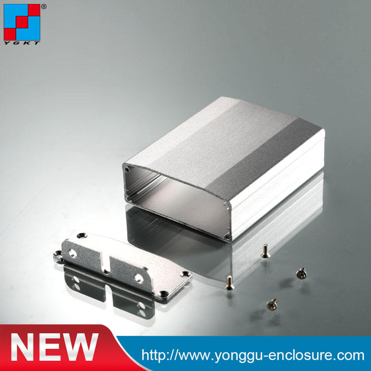 YGK-008 64*25.5*86mm case with ends aluminium extrusion audio wire holding enclosure for <strong>electronic</strong>