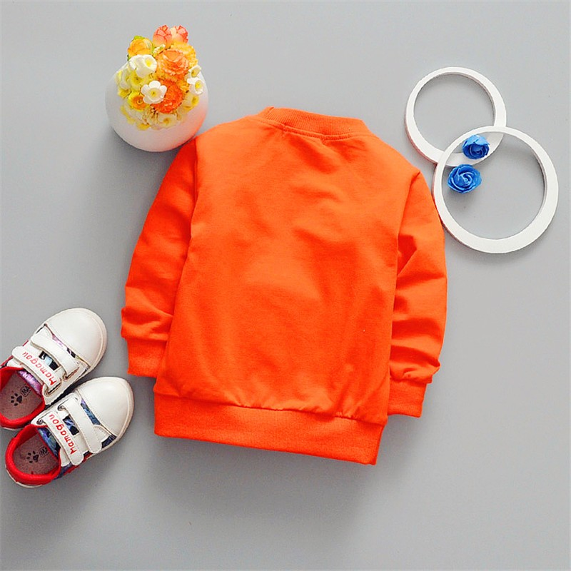 2019 Children Boy's Cartoon Long Sleeved T-shirt All-match Fashion Jacket Smile Face Star Kids Clothing Baby Girl Clothes