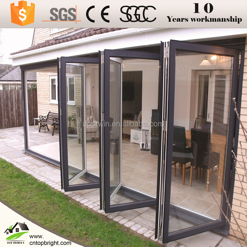 Aluminium exterior glass folding door/bifold door