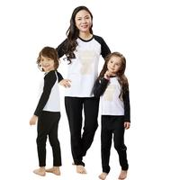 family matching clothing adult and child clothing suit set