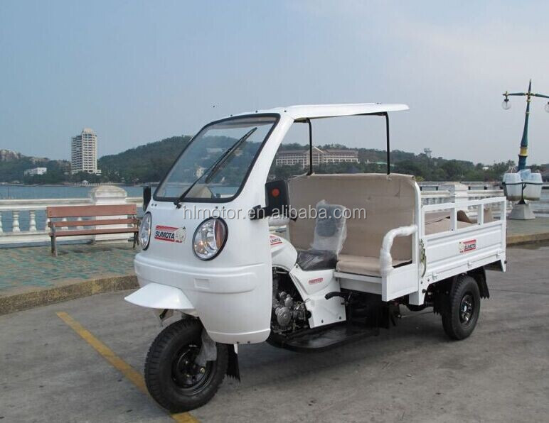 SUNCHIROThree Wheel Passenger Cabinet Cargo Motorcycle with food fruit box tricycle