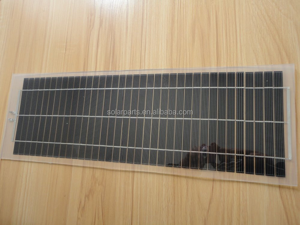 Chinese Portable 10W 18V Tranparent PET Laminated Solar Panel for sale