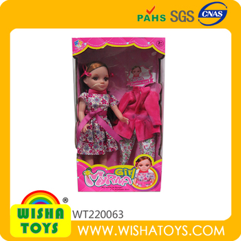 Fashion modern style wholesale cheap dress up toys barbie doll games