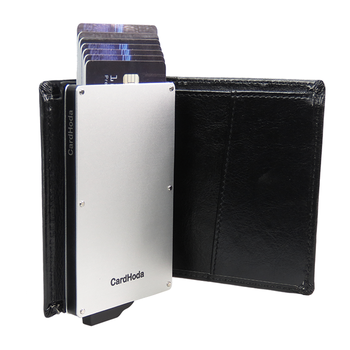 Blocking Credit Card Protector Black Business Holder Rfid Wallet