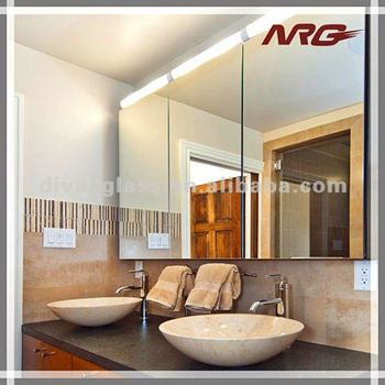 Both Reccessed And Wall Mounted Aluminum Bathroom Mirror Cabinet