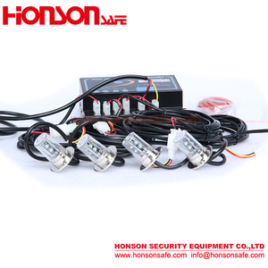 warning car 4/6/8/12 pcs LED bulb lighthead DC12V power kit hide away strobe flashing lights HA-481