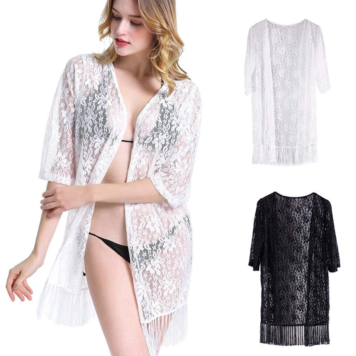 f4f2d325e4 Get Quotations · Pervobs Women Cover Ups Big Promotion! Women Swing Tunic  Loose Cute Smock Sexy Tassel Cardigan