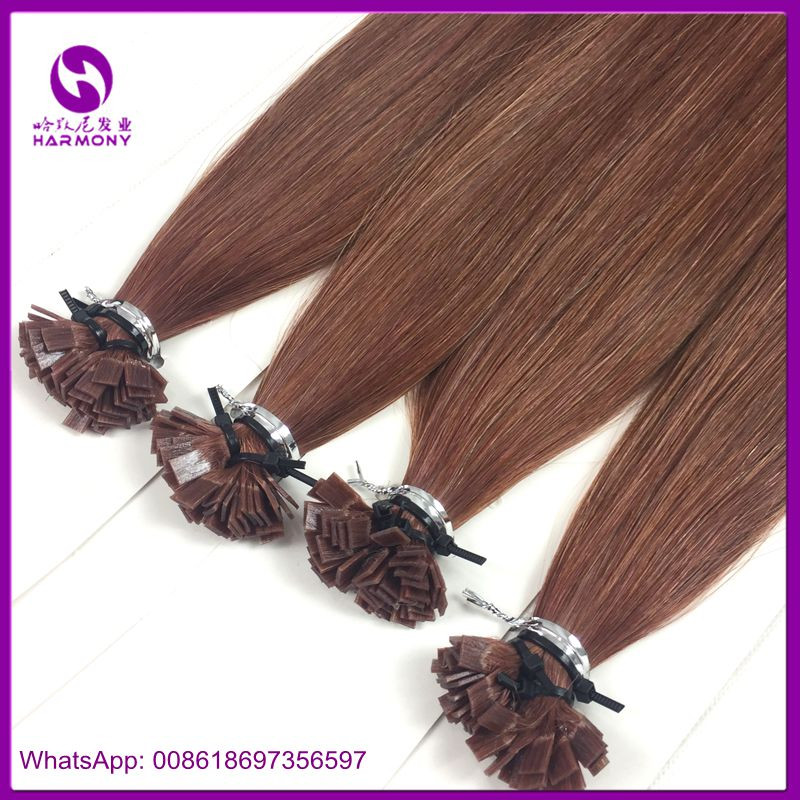 Wholesale russian 100% cuticle remy nail shape tipped u tip hair russian hair 1g strands