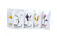 Wholesale custom flower seed self packing bag/Universal transparent self-supporting packing bag