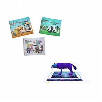 Realite Augmentee Educatifs Pour Enfants Peinture Livre Livre De Coloriage Magique Jouets Buy Livre De Peinture Magique Livre De Peinture Pour