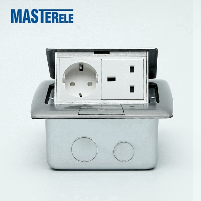 Normal/soft Round Brass Pop Up Electrical Floor Box Power Socket With 15/20A