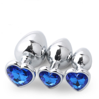 New Style Heart-shaped Factory Supply Great Quality Butt Plug Love Game Anal Plug for Sex Game Anal Sex Toys