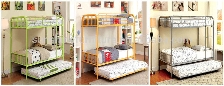 Strong Iron Bunk Bed Queen Size Metal Steel Double Decker