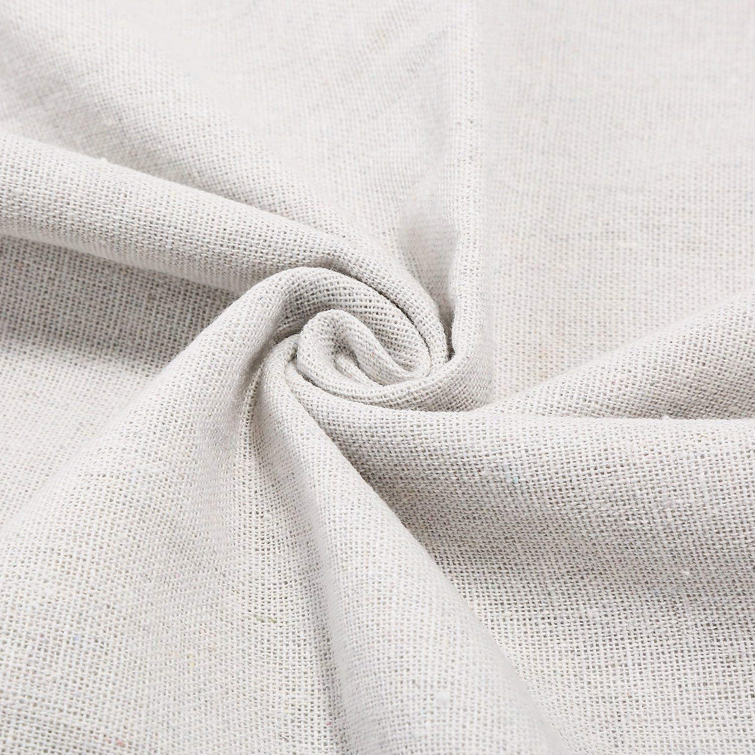 Jetec Natural Linen Fabric Solid Colored Needlework Cross Stitch Cloth for Needle Embroidery, 62 by 20 inches, Pure White