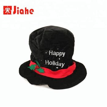 Crazy black santa funny snowman led christmas hat 02501cf9595