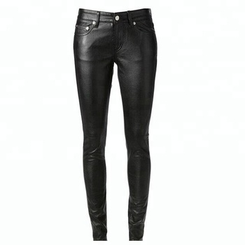 234535d4c08523 Custom Skinny Sexy Women Leather Pants/Womens Stretch Leather Pant Faux  Leather Pants Women Wholesale