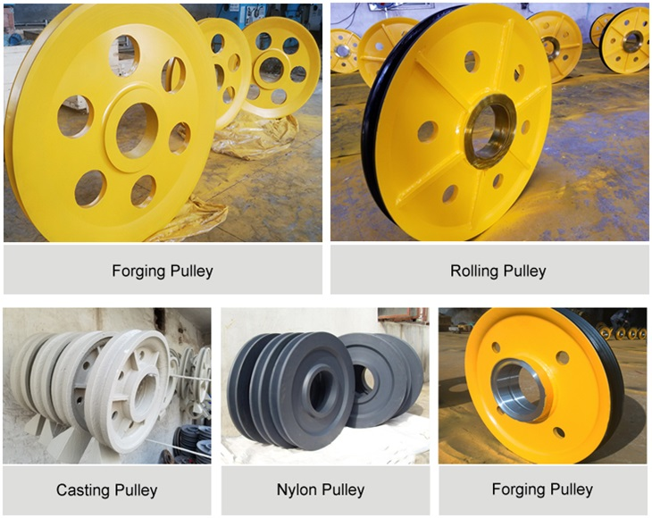 Steel Wire Rope Sheave Pulley For Trolley Sheaves,Crane Pulley Wheel ...