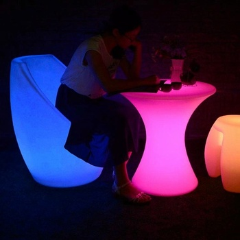 Terrific Outdoor Pe Plastic Furniture Modern Light Up Led Coffee Shop Table And Chairs Buy Outdoor Furniture Modern Furniture Coffee Shop Tables And Interior Design Ideas Oteneahmetsinanyavuzinfo