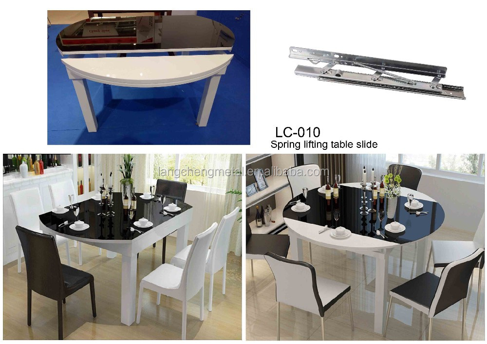 dining room table extension mechanism. large extendable table