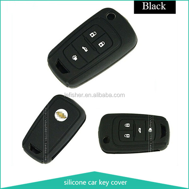 Car protective silicone key cover,silicon car accessory ,silicone remote key Ford3 buttons