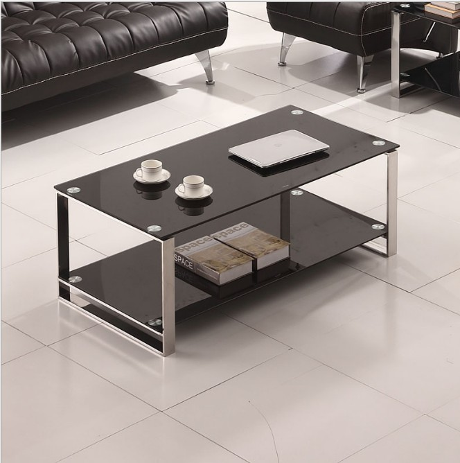 Reasonable Price Steel Rectangular Furniture Centre Glass Coffee Tea Table Designs