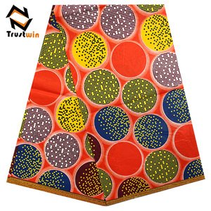African fashion 100% cotton real ankara wax print fabrics