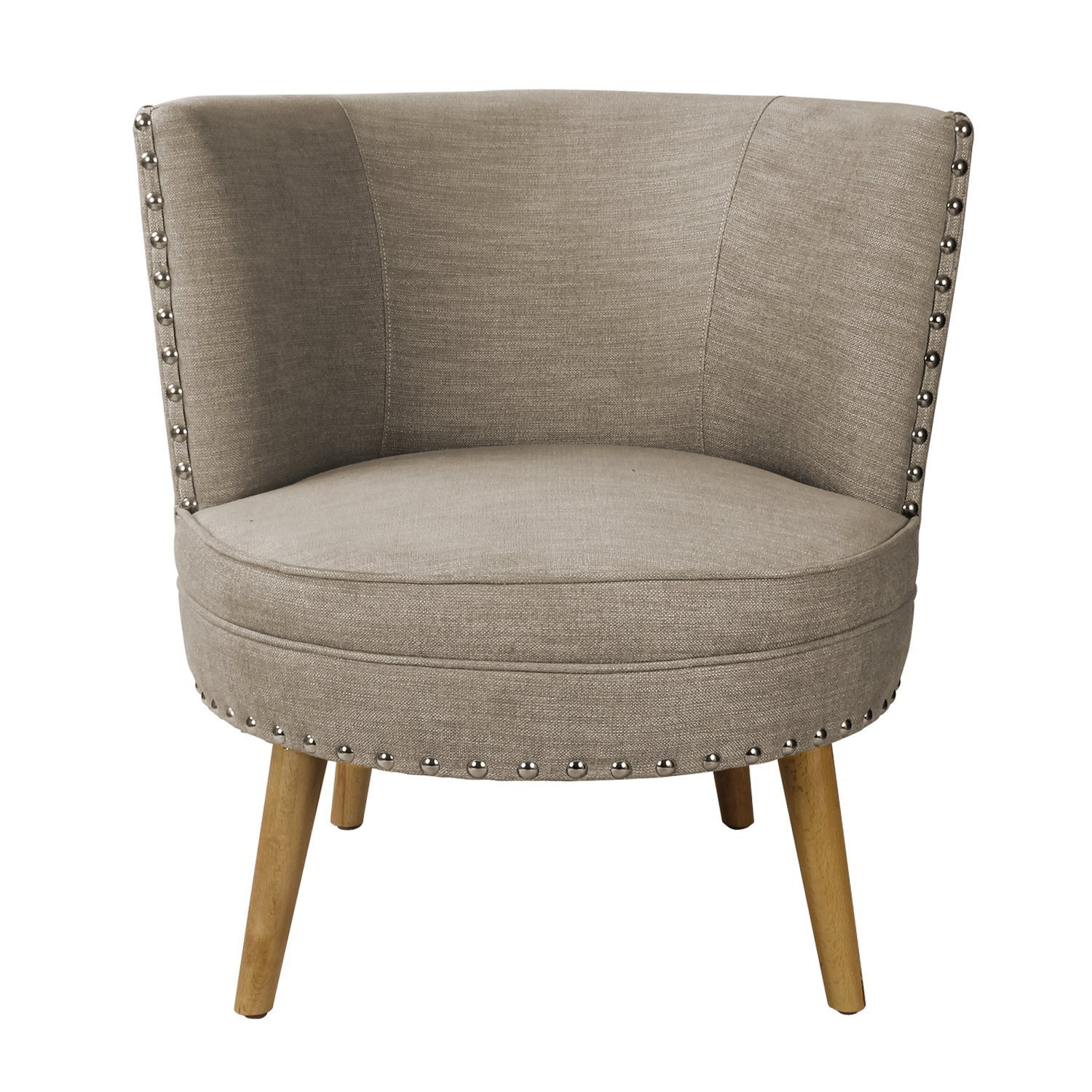Get Quotations · Asense Solid Color Fabric Mid Century Modern Contemporary  Armchair/Accent Chair With Wooden Leg (