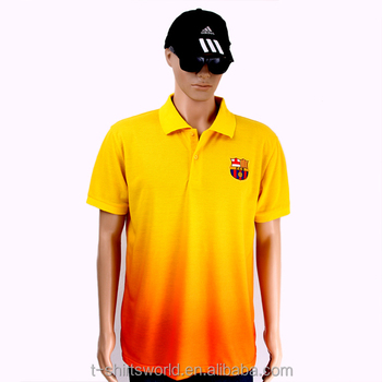 2015 barato novo design de algodão poli tecido piquet gola esporte  sublimação camisa polo t 09738c7e3c76c