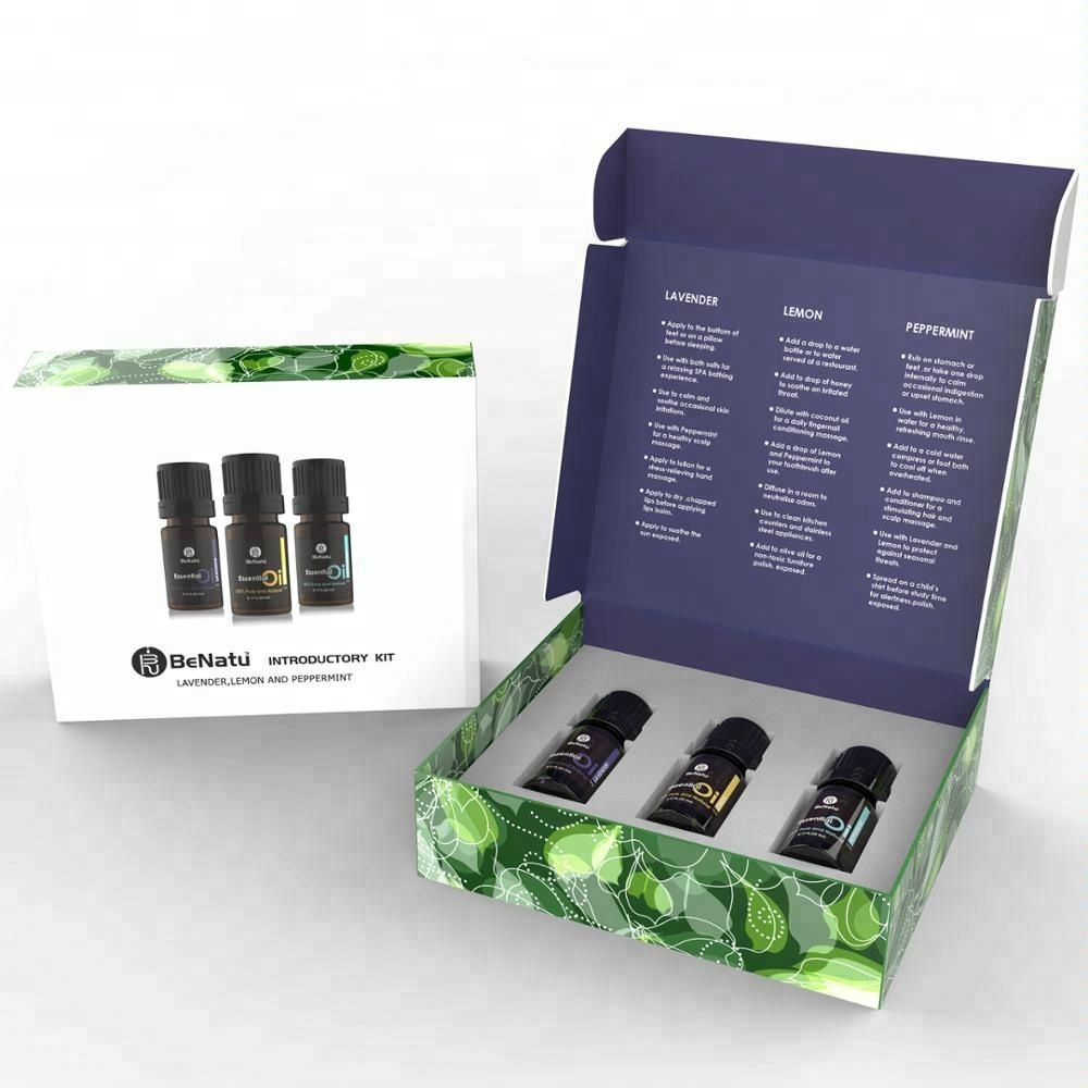 Puro Olio Essenziale Gift Set-Introductory Kit-Lavendaer/Limone/Menta Piperita 3*5 ml