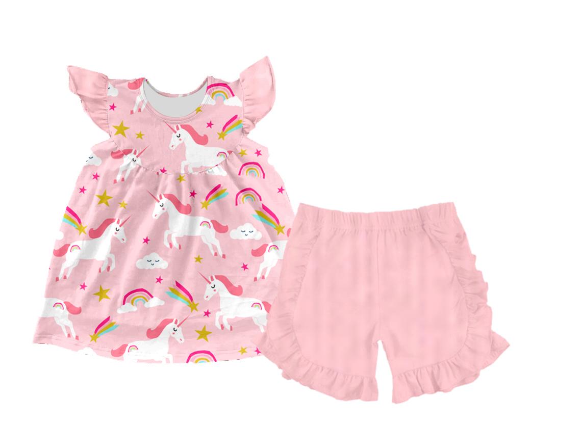 2020RTS de moda sol girasol precioso bebé niño Niñas Ropa conjunto verano casual Camisa pantalones cortos niñas trajes de ropa para niños