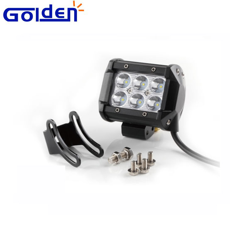 4 Inch 18W 6 Cree LED Work Cube Light Bar Spot Beam Offroad LED Driving Light For jeep cars