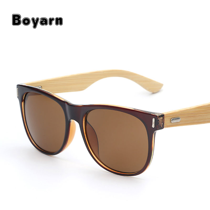 2017 Bamboo fashion wood sunglasses men women wooden sun glass retro vintage UV400 Eyewear glasses oculos de madeira
